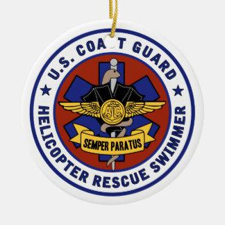 Coast Guard Rescue Swimmer Ceramic Ornament