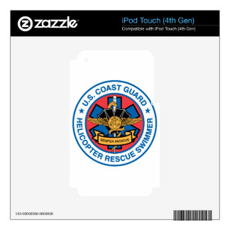 coast guard rescue swimmer decals for iPod touch 4G