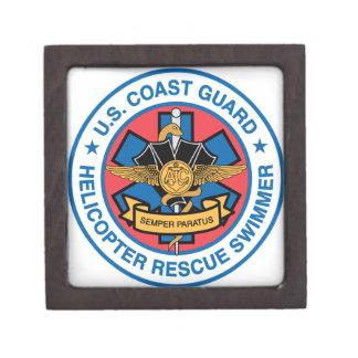 coast guard rescue swimmer keepsake box
