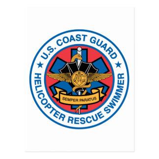 coast guard rescue swimmer postcard