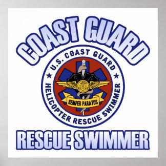 Coast Guard Rescue Swimmer Poster