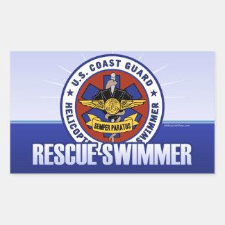 Coast Guard Rescue Swimmer Rectangular Sticker