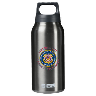 Coast Guard Reserve Logo Thermos Water Bottle