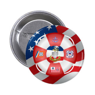 Coast Guard SCPO Life-Ring Pinback Buttons