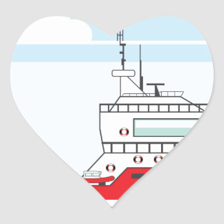 Coast guard ship with helicopter heart sticker