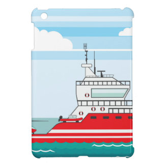Coast guard ship with helicopter iPad mini cases