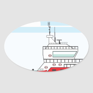 Coast guard ship with helicopter oval sticker