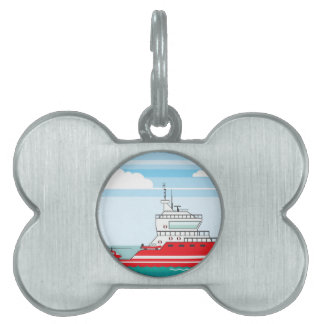 Coast guard ship with helicopter pet name tag