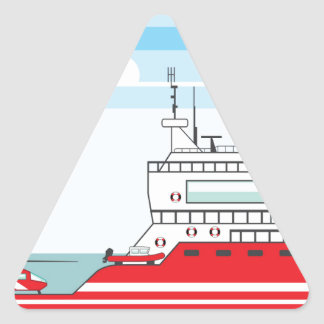 Coast guard ship with helicopter triangle sticker