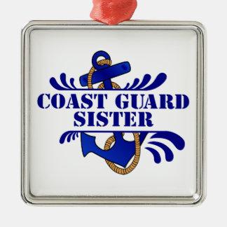 Coast Guard Sister, Anchors Away! Christmas Tree Ornament