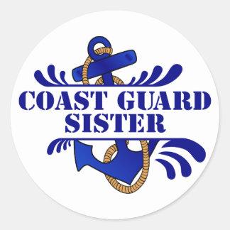 Coast Guard Sister, Anchors Away! Sticker