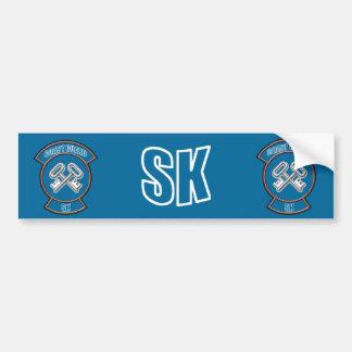 Coast Guard SK Anchor Emblem Bumper Sticker