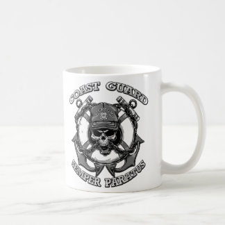 Coast Guard Skull Coffee Mug