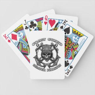 Coast Guard Skull Bicycle Poker Deck