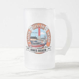 Coast Guard Station Jones Beach New York Frosted Glass Beer Mug