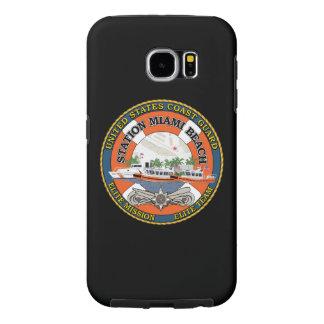 "Coast Guard Station Miami Beach ""Black Case"" Samsung Galaxy S6 Cases"