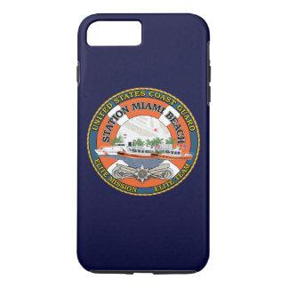 "Coast Guard Station Miami Beach ""Navy Blue"" iPhone 8 Plus/7 Plus Case"