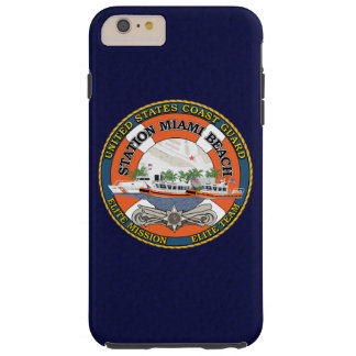 "Coast Guard Station Miami Beach ""Navy Blue"" Tough iPhone 6 Plus Case"