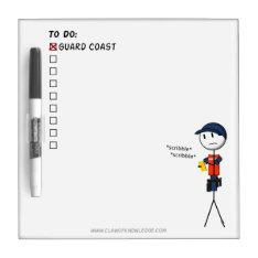 Coast Guard To-do List Dry-erase Board at Zazzle