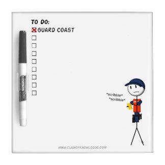 Coast Guard To-Do List Mini-Whiteboard Dry-Erase Whiteboard