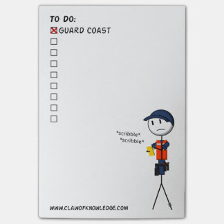 Coast Guard To-Do List Post-it® Notes
