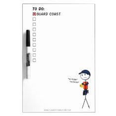 Coast Guard To-do List Whiteboard at Zazzle