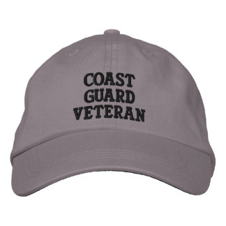 Coast Guard Veteran Embroidered Baseball Hat
