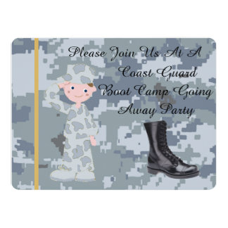 Coast Guard White Male Going Away Party Invitation