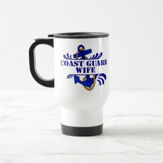Coast Guard Wife, Anchors Away! Travel Mug