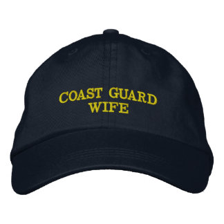 Coast Guard Wife cap embroidered