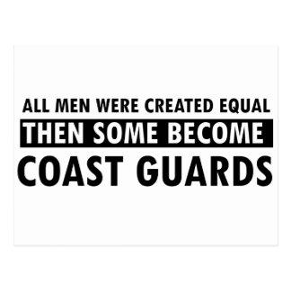 Coast guards designs postcard