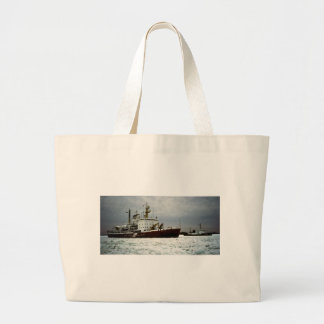 Coast Guards on the St. Clair River Large Tote Bag