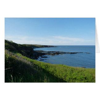 """""""Coast Near Cullernose Point"""" Card"""