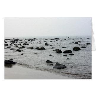 Coast near Tamshui Fishermans Wharf, Taiwan Greeting Card