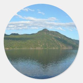Coast of British Columbia in Scenic Canada Classic Round Sticker