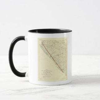 Coast of California showing San Andreas Rift Mug