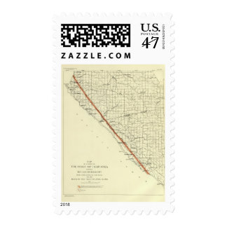 Coast of California showing San Andreas Rift Postage
