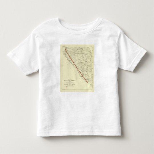 Coast of California showing San Andreas Rift Toddler T-shirt