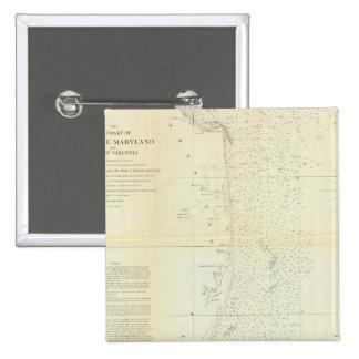 Coast of Delaware, Maryland, pt of Virginia Pinback Button