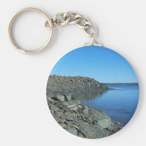 Coast Of Maine 24 Basic Round Button Keychain