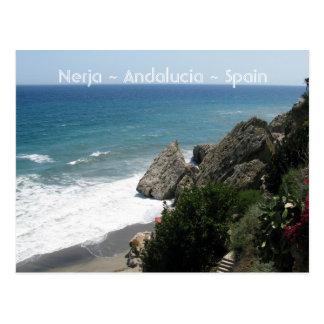 Coast of Nerja, Andalucía Postcard