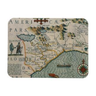 Coast of North Carolina, detail of the map titled Rectangular Photo Magnet