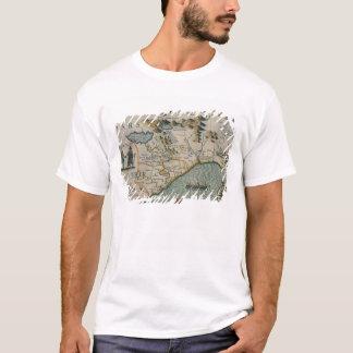Coast of North Carolina, detail of the map titled T-Shirt