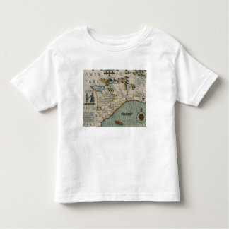 Coast of North Carolina, detail of the map titled Toddler T-shirt