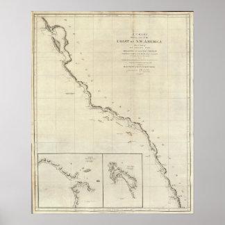 Coast of North West America 4 Print