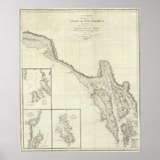 Coast of North West America 5 Print