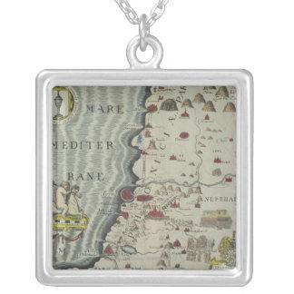 Coast of Phoenicia Square Pendant Necklace