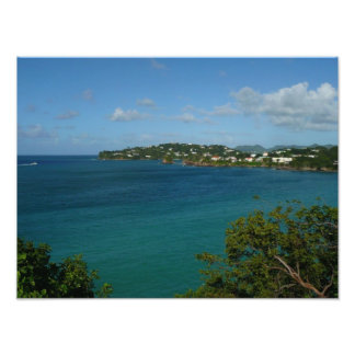 Coast of Saint Lucia Photo Print