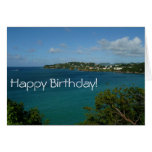 Coast of St. Lucia Birthday Card (Blank Inside)