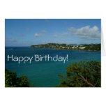 Coast of St. Lucia Birthday Card (Blank Inside)